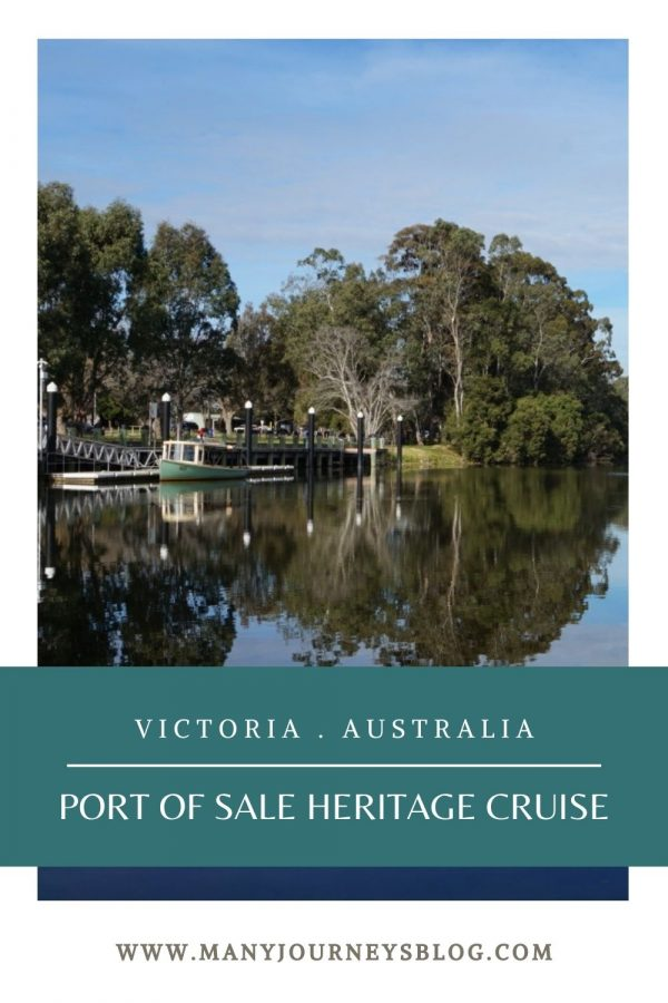 The Port of Sale Heritage Cruises offers a leisurely 1.5hr cruise from the Port of Sale to the historic Swing Bridge and return.  Wonderful commentary is provided which includes the history of the Port of Sale and Sale Canal, Swing Bridge, indigenous culture (including scarred trees) and lots of wildlife spotting (birds and often koalas, sometimes platypus).